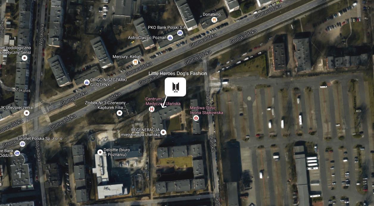Mapa jak dotrzeć do sklepu stacjonarnego