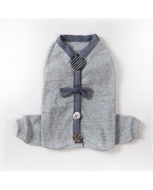Organic Romper Kombinezon Louis Dog Grey