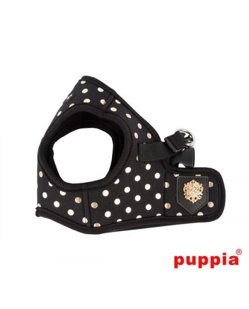 Szelki dla Psa Puppia Typ B Modern Dotty Harness Black