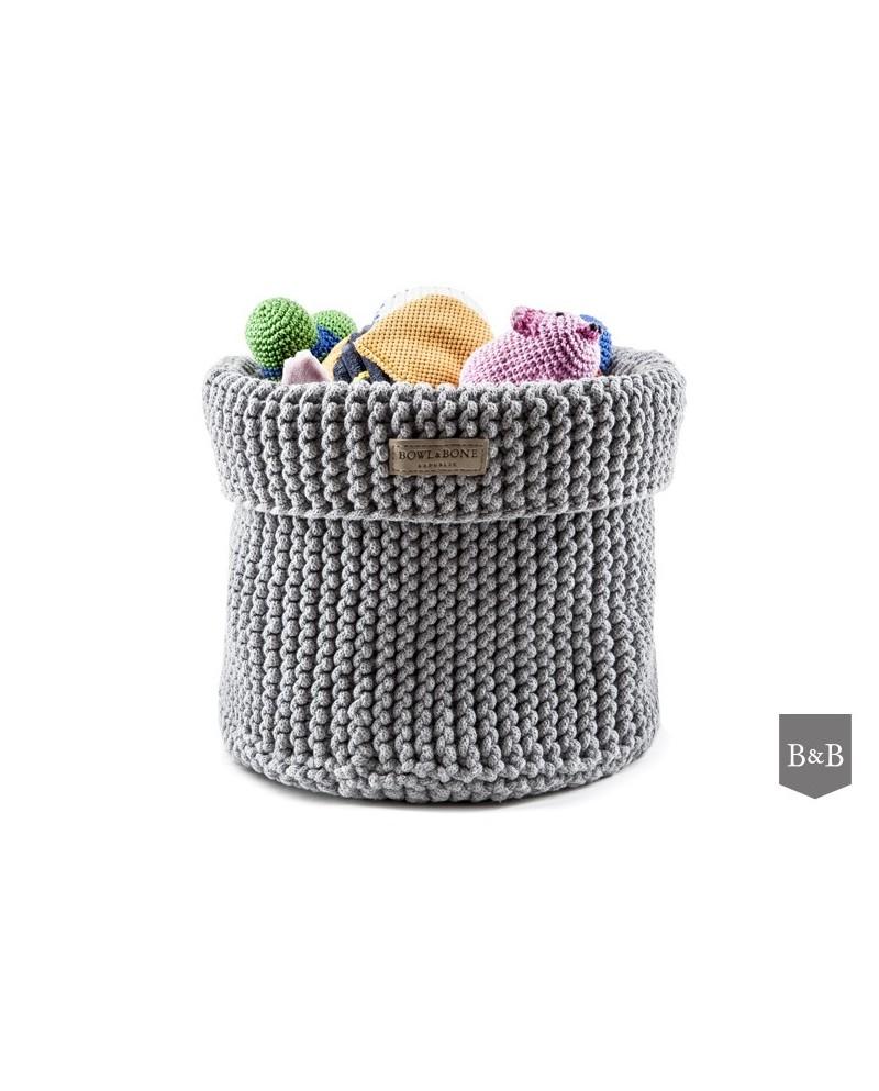 Kosz na zabawki Cotton - szary/silver