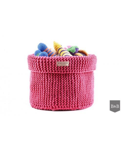 Kosz na zabawki Cotton- różowy Bowl&Bone