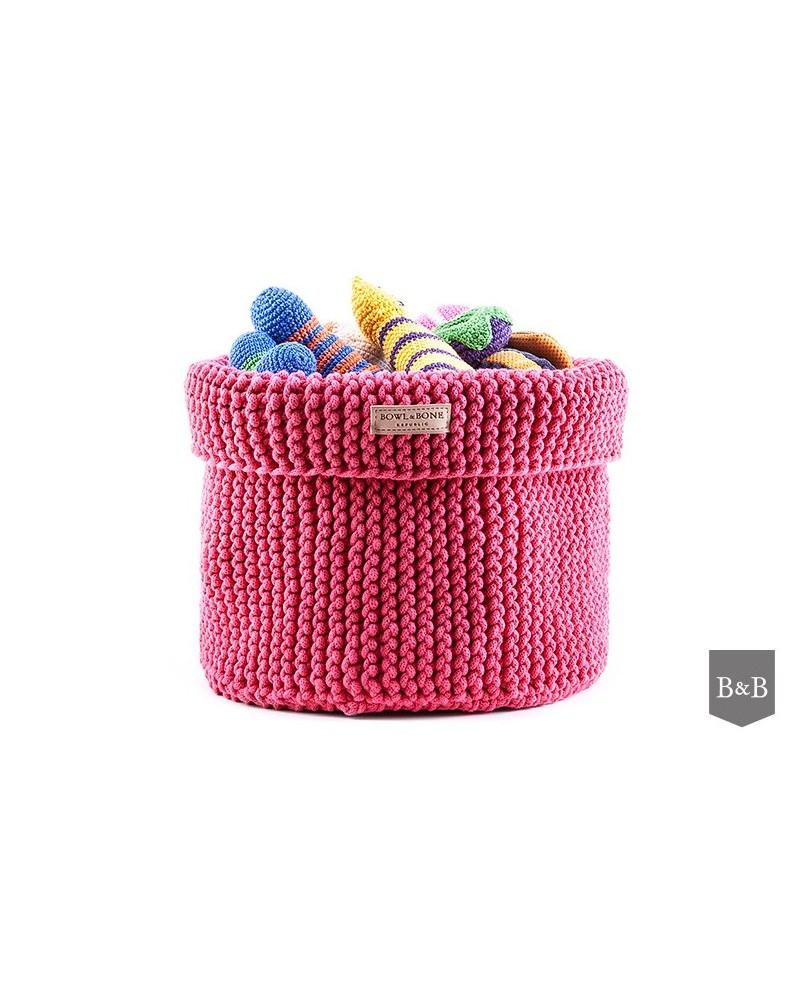 Kosz na zabawki Cotton- różowy