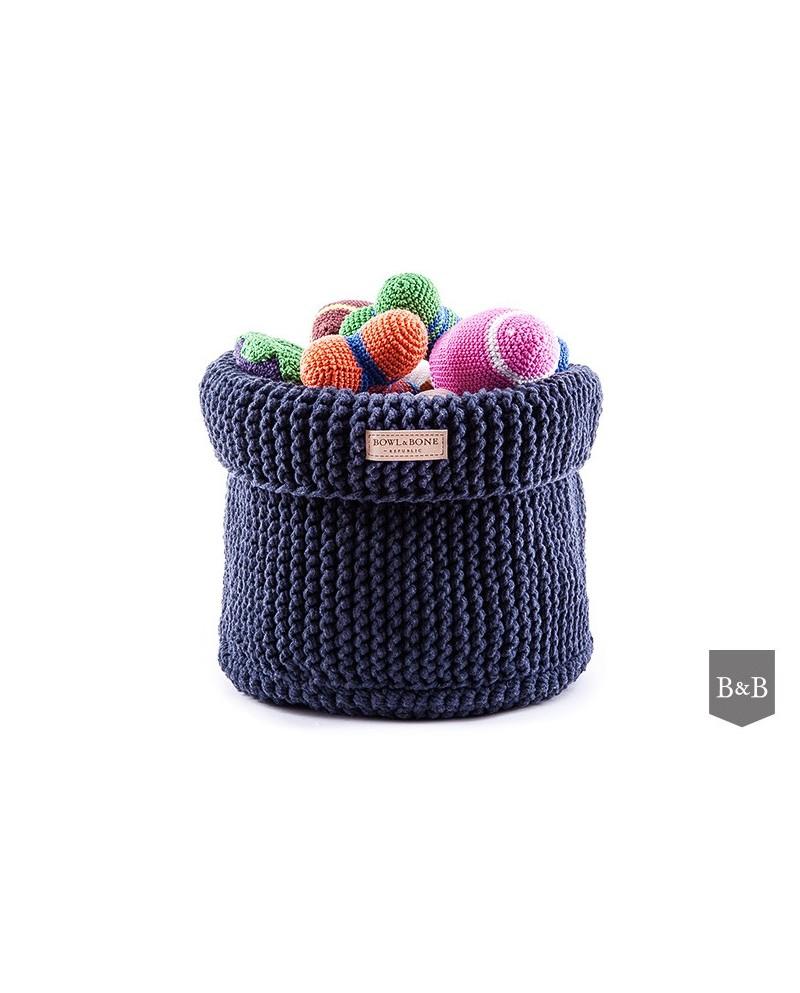 Kosz na zabawki Cotton - granatowy/navy