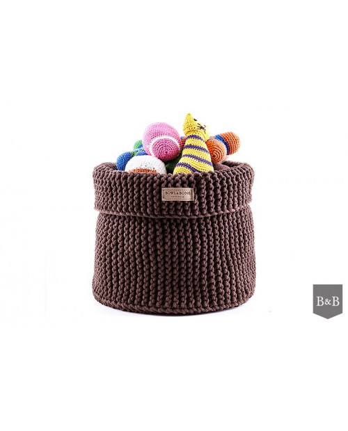 Kosz na zabawki Cotton - brązowy/brown