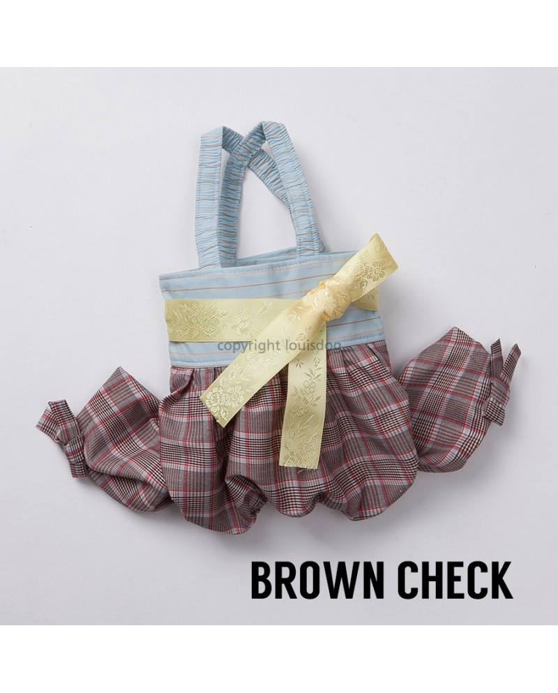 Kombinezon dla Psa Hanbok For Boy and For Girl Brown Check