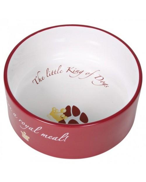 """Miska ceramiczna dla Psa ,,King of Dogs"""" I - czerwona"""