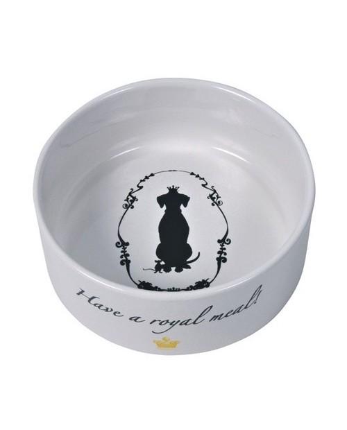 """Miska ceramiczna dla Psa ,,King of Dogs"""" I - biała"""