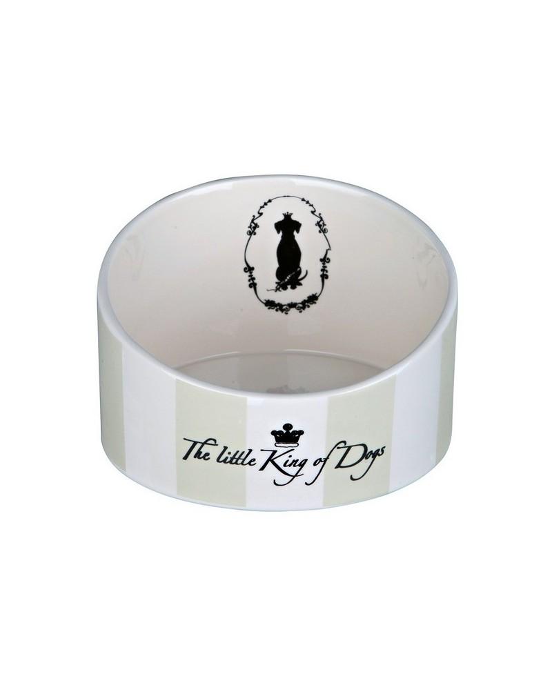 "Miska ceramiczna dla Psa ,,King of Dogs"" II - biała"