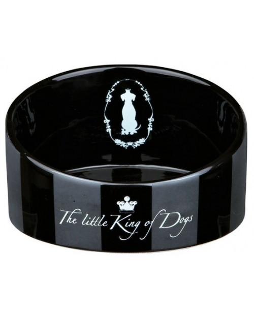 "Miska ceramiczna dla Psa ,,King of Dogs"" II - czarna"