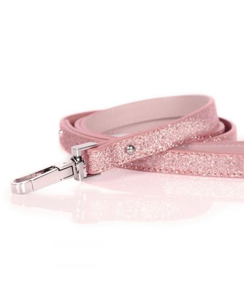 Smycz dla Psa Milk&Pepper Stardust Pink Laisse- różowa