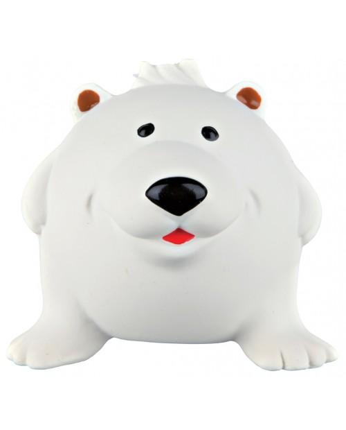 Piszcząca zabawka Piłka- Biały Niedźwiedź