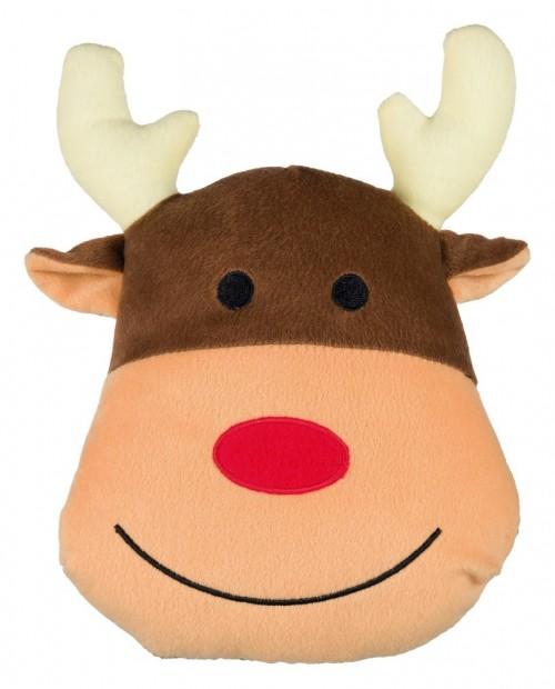 Zabawka Poduszka świąteczna dla Psa Głowa Reniferka