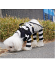 Kombinezon dla Pieska Puppy Angel(R) Simple Big Stripes Overalls black