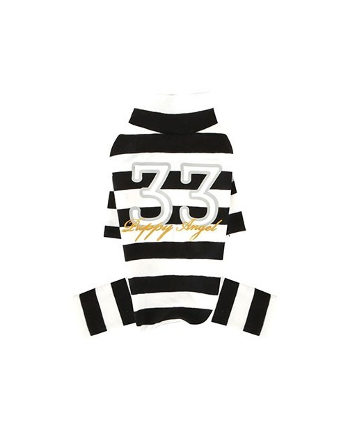 Kombinezon dla Pieska Puppy Angel(R) Simple Big Stripes Overalls black
