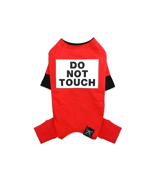 Kombinezon dla Pieska Do Not Touch NEVEL (TM) Overall RED