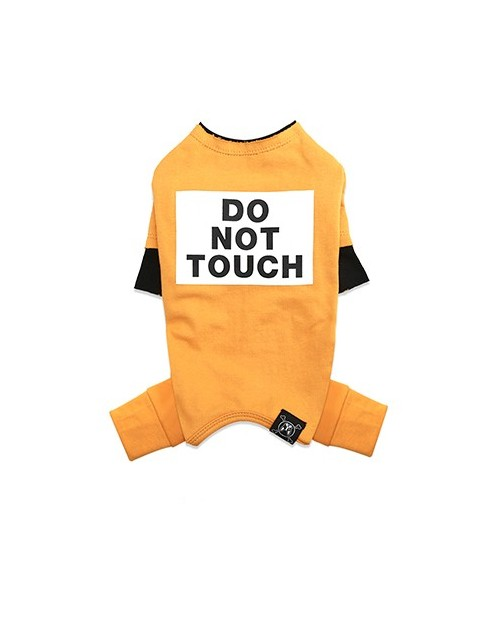 Kombinezon dla Pieska Do Not Touch NEVEL (TM) Overall YELLOW