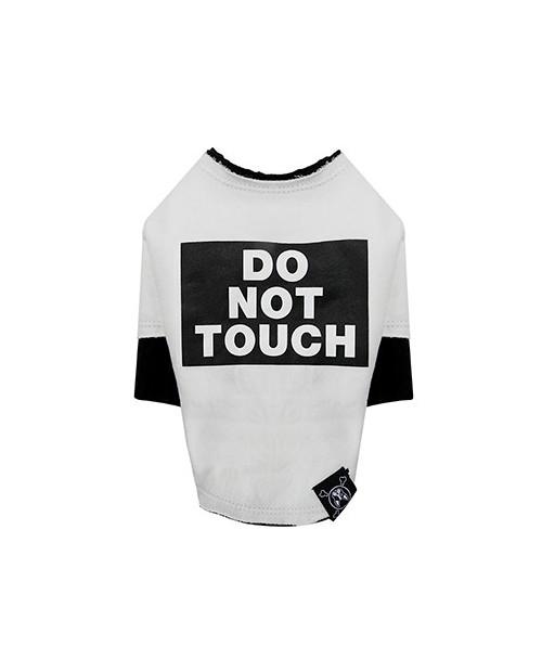 Bluzka dla Pieska Do Not Touch Rough Cut Layered Round T-shirt RED