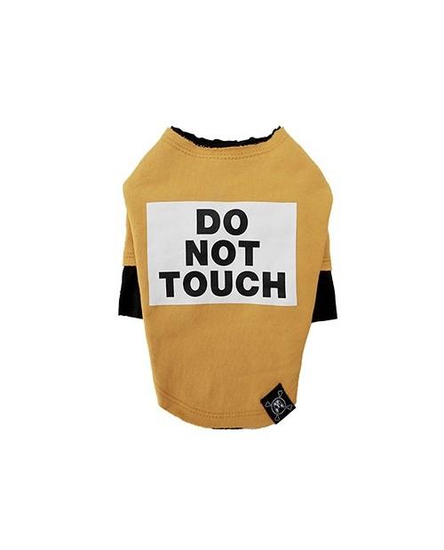 Bluzka dla Pieska Do Not Touch Rough Cut Layered Round T-shirt YELLOW