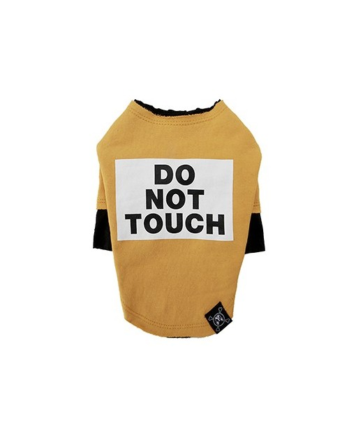 Bluzka dla Pieska Do Not Touch Rough Cut Layered Round T-shirt YELLOW