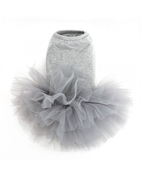 Sukienka dla Pieska Puppy Angel TUTU Dress Grey