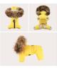 Luksusowy kombinezon Puppy Angel Love Faux Down Padding Overalls