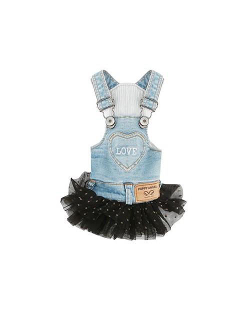 Sukienka jeansowa dla Psa Puppy Angel(R) OHKIO(TM) Blue Denim Dot Skirt
