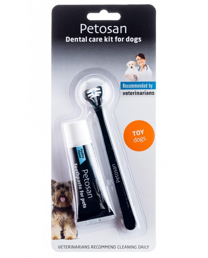 Zestaw do czyszczenia zębów Petosan dla psów ras miniaturowych (do 3kg)