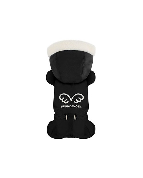 Kombinezon zimowy dla wybradnych Piesków Puppy Angel czarny