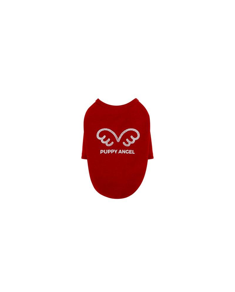 Bluzka T-shirt dla Psa czerwony/bordo