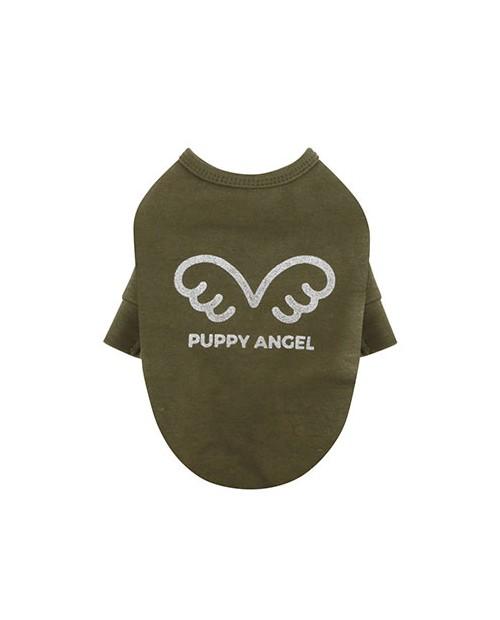 Bluzka T-shirt dla Psa zielony/khaki