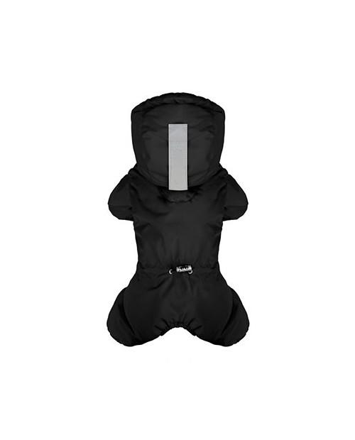 Kombinezon zimowy z logo na łapce Puppy Angel MAGAGIO czarny