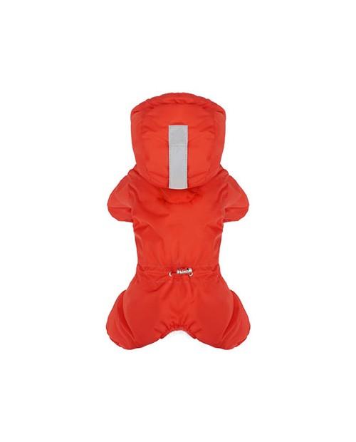 Kombinezon zimowy z logo na łapce Puppy Angel MAGAGIO czerwony