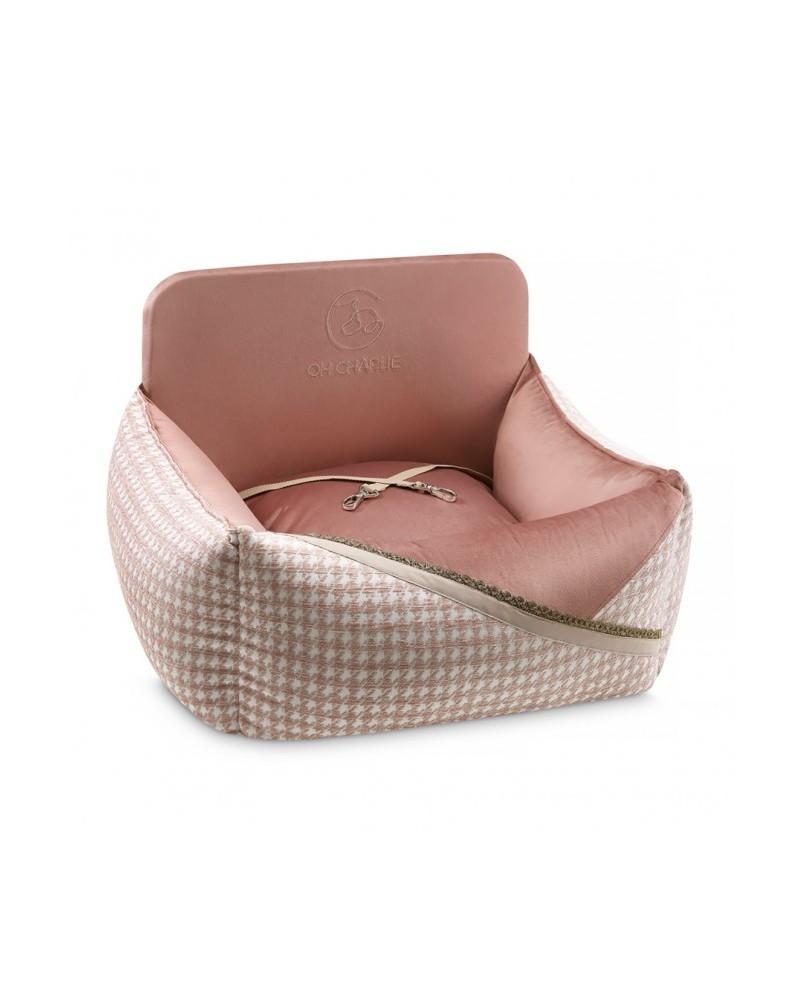 Luksusowe Siedzisko do auta Glamour różowe