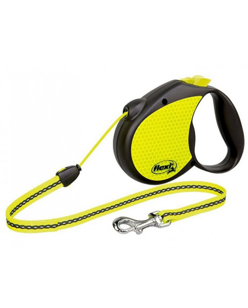 Smycz Flexi New Neon REFLEKT, sznurek