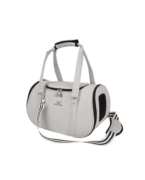 Torba dla Psa Puppy Angel Herringbone Travel Carrier szara