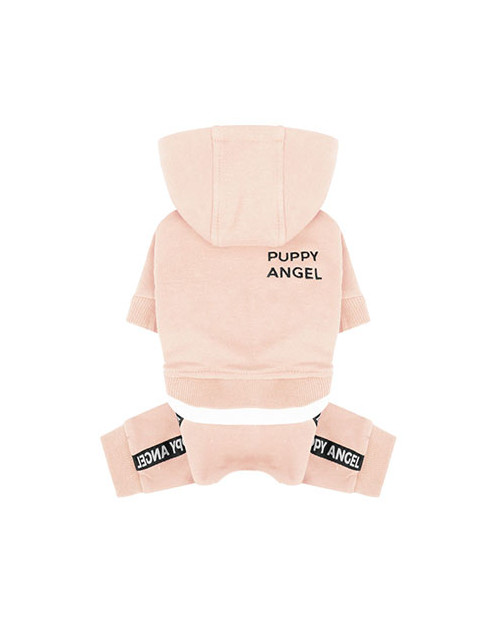 Dres dla Psa Puppy Angel Basic Logo Tape Hood Tracksuit