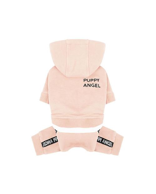 Dres dla Psa Puppy Angel Basic Logo Tape Hood Tracksuit Różowy