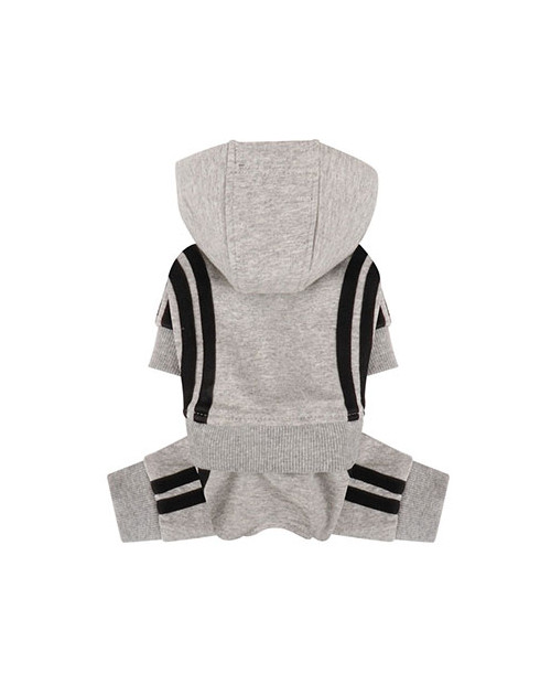 Dres dla Psa Puppy Angel Basic Tape Tracksuit szary