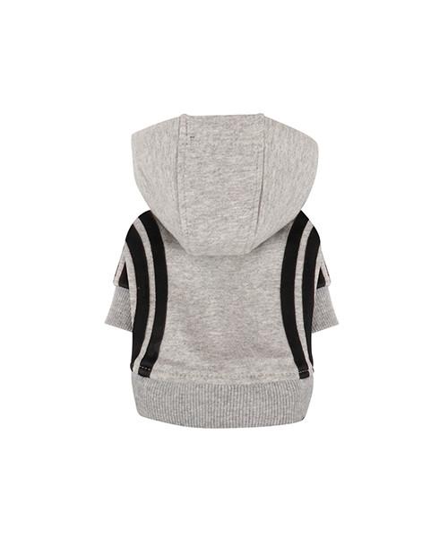 Dresowa Bluza dla Psa Puppy Angel BasicTape Hood T-shirt szara