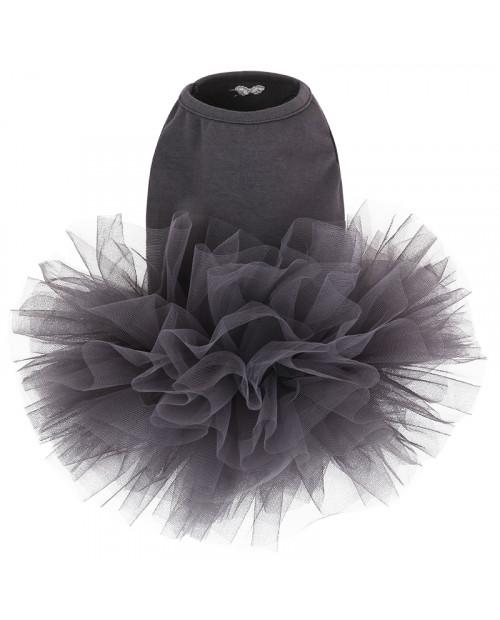 Sukienka dla Pieska Puppy Angel TUTU Dress DARK Grey