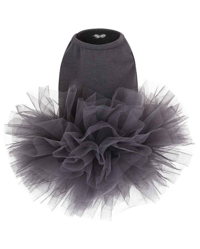 Sukienka dla Pieska Puppy Angel TUTU Dress DARK Grey
