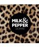 Skórzana smycz tradycyjna Milk&Pepper Leopard leather
