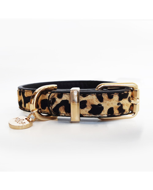 Skórzana obroża Milk&Pepper Leopard leather collar
