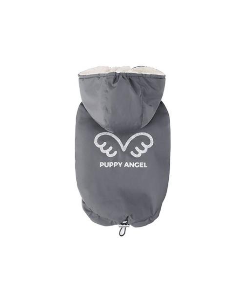 Zimowa kurtka dla wybradnych Piesków Puppy Angel Wing Padded Hooded Vest grey
