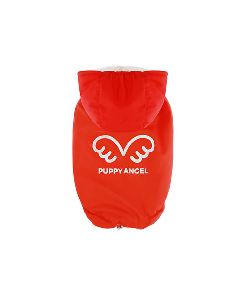 Zimowa kurtka dla wybradnych Piesków Puppy Angel Wing Padded Hooded Vest RED
