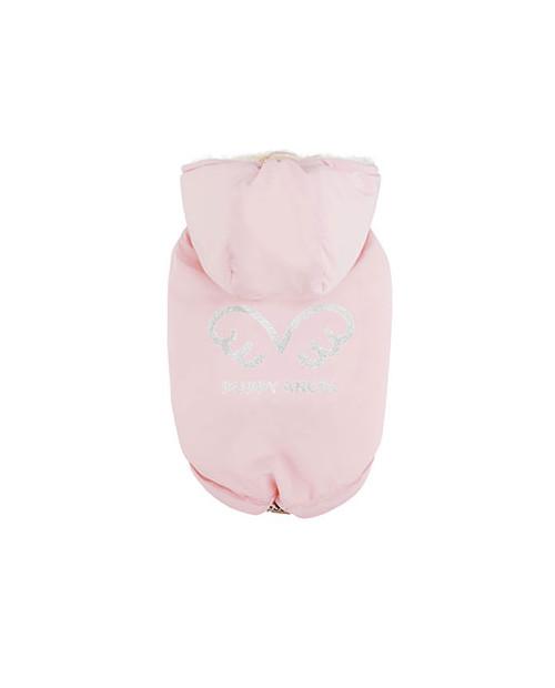 Zimowa kurtka dla wybradnych Piesków Puppy Angel Wing Padded Hooded Vest Pink