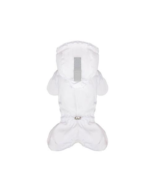 Kombinezon zimowy z logo na łapce Puppy Angel MAGAGIO biały