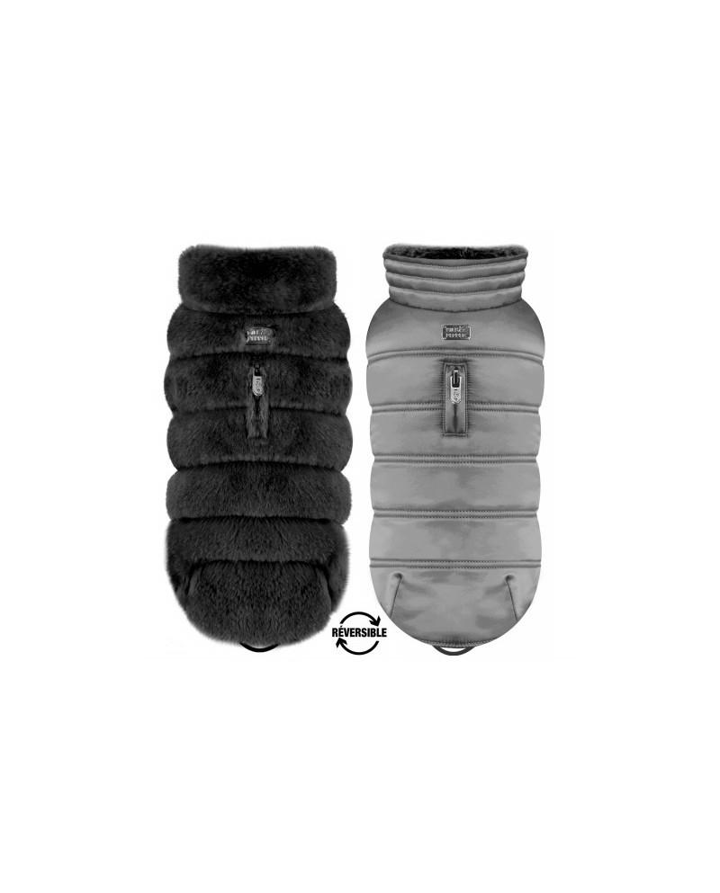Dwustronna kurtka Black/Grey Enya Milk&Pepper