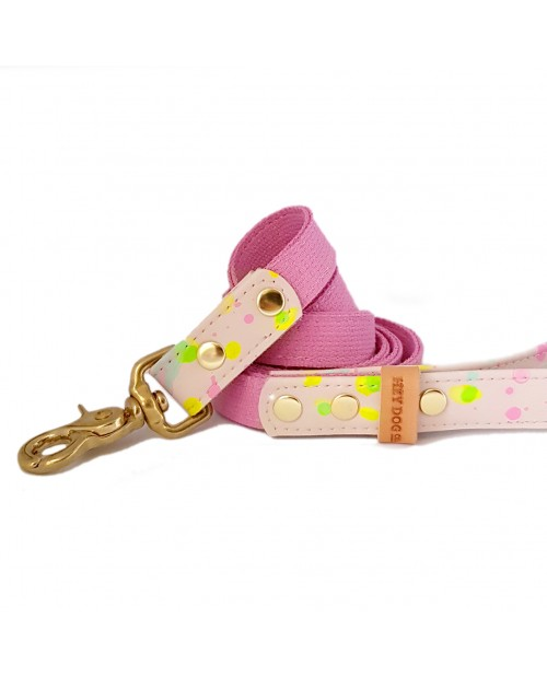 Smycz PINK & FLUO pink tape