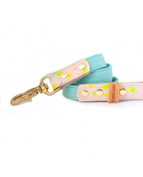 Smycz PINK & FLUO mint tape